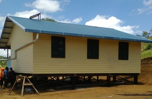 Under construction - Kalolo Health Clinic building funded by ICRC, located in Kagua District, Southern Highlands Province.